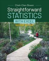 Straightforward Statistics with Excel®